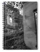 Just Left There Jerome Black And White Spiral Notebook
