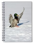 Just Like Skiing Spiral Notebook