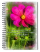 Just Living Is Not Enough 01 Spiral Notebook