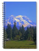 Just Over The Hill Mt. Rainier Spiral Notebook