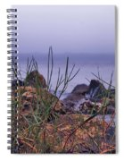 Just Over The Rocks Spiral Notebook