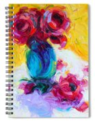 Just Past Bloom - Roses Still Life Spiral Notebook