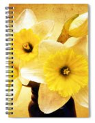 Just Plain Daffy 1 - Flora - Spring - Daffodil - Narcissus - Jonquil Spiral Notebook