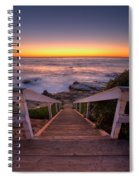 Just Steps To The Sea Spiral Notebook