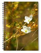 Just Two Little White Flowers Spiral Notebook