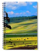 Juvenile Eagles Play Fight Spiral Notebook