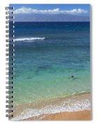 Kaanapali Ocean Aerial Spiral Notebook