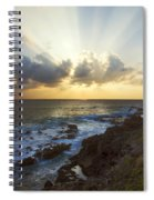 Kaena Point State Park Sunset 3 - Oahu Hawaii Spiral Notebook