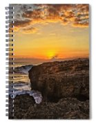 Kaena Point Sunset Spiral Notebook