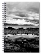 Kaikoura Coast New Zealand In Black And White Spiral Notebook
