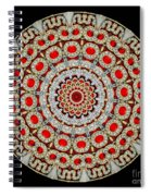 Kaleidoscope Colorful Jeweled Rhinestones Spiral Notebook