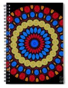 Kaleidoscope Of Colorful Embroidery Spiral Notebook