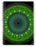 Kaleidoscope Of Glowing Circuit Board Spiral Notebook