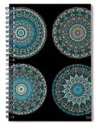 Kaleidoscope Steampunk Series Montage Spiral Notebook