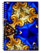 Kaleidoscopic Blues Fdl  Spiral Notebook