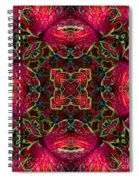 Kaleidscope Made From Image Of Coleus Plant Spiral Notebook