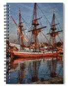 Kalmar Nyckel At Anchor In Salem Ma Spiral Notebook
