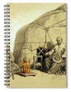 Kalmuks With A Prayer Wheel, Siberia Spiral Notebook