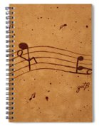 Kamasutra Abstract Music 2 Coffee Painting Spiral Notebook