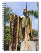 Kamehameha Covered In Leis Spiral Notebook