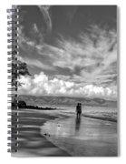 Kanaha Beach Maui Hawaii Panoramic Spiral Notebook