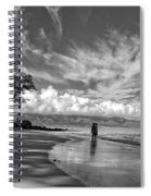 Kanahna Beach Maui Hawaii Panoramic Spiral Notebook