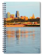 Kansas City Downtown From Kaw Point Spiral Notebook