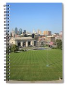 Kansas City Skyline And Park Spiral Notebook
