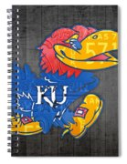 Kansas Jayhawks College Sports Team Retro Vintage Recycled License Plate Art Spiral Notebook