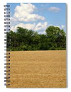 Kansas Wheat Field 3a Spiral Notebook