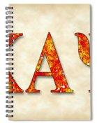 Kappa Alpha Psi - Parchment Spiral Notebook