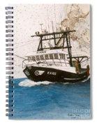 Karis Trawl Fishing Boat Nautical Chart Art Spiral Notebook