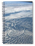 Karman Vortex Cloud Streets From Space Spiral Notebook