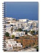 Kastro Village In Sifnos Island Spiral Notebook