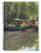 Kathleen May Chesterfield Canal Nottinghamshire Spiral Notebook