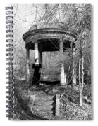 Kathy In Gazebo 1979 Spiral Notebook