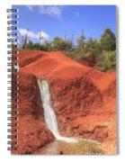 Kauai Red Dirt Waterfall Spiral Notebook