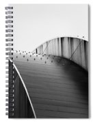 Kauffman Center Black And White Curves Photography Spiral Notebook