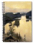 Kaukola Ridge At Sunset Spiral Notebook