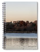Kayak At Sunset Spiral Notebook