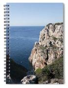 kayak in the deep of a Cala close to Calan Porter Beach - Menorca Spiral Notebook