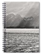 Kayakers On Jackson Lake Spiral Notebook