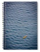 Kayaking Alone Spiral Notebook