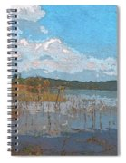 Kayaking At Lake Juliette Spiral Notebook