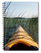 Kayaking Through Reeds Bwca Spiral Notebook