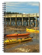 Kayaks By The Pier Spiral Notebook