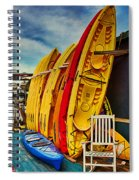 Kayaks For Rent Spiral Notebook