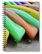 Kayaks In A Row Spiral Notebook
