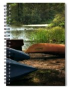 Kayaks On The Shore Spiral Notebook