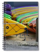 Kayaks Stacked Spiral Notebook